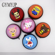 High quality Despicable me pandas mickey Hello Kitty Earphone Headphone Zipper Bag gift