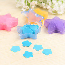 Convenient Washing Hand Travel Scented Slice Sheets Foaming Heart Box Small Paper Soap