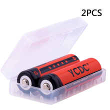 YCDC 2Pcs/lot 3.7V 18650 Battery 3000mAh Li-ion Rechargeable for Led Torch Flashlight Toys Camera Bateria + free battery box
