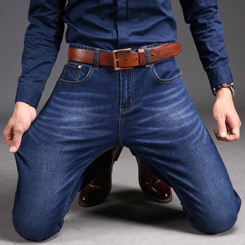 2017 Men Denim Jeans Skinny  Slim Male Jeans Pants Fashion Classical Casual Business Style Men Blue Ripped JeansОдежда и ак�е��уары<br><br><br>Aliexpress