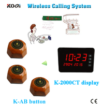 433mhz restaurant wireless service calling system show different type of table service(China)
