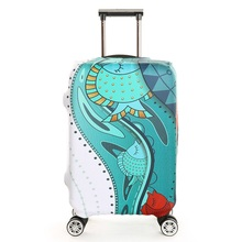 2017 New printing Luggage Cover Protector Trolley Suitcase Covers Elastic Polyester Protection Case Travel Luggage Cover Unisex(China)