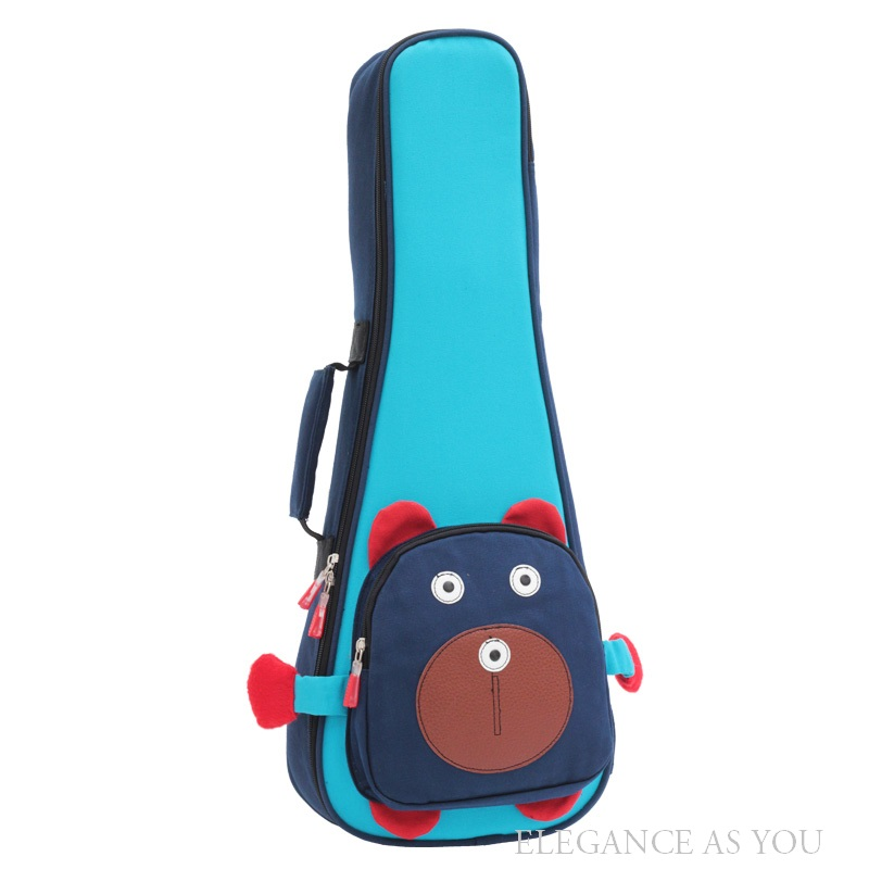 Free shipping shakeproof thickening 21inch,23inch,26inch thicken Ukulele bag,owl style guitar backpack,popular small guitar bags<br>