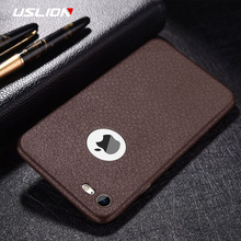 Buy USLION Retro PU Leather Litchi Texture Phone Case iPhone X Soft TPU Silicon Back Cover iPhone 6 6S 7 Plus 5 5s SE Cases for $1.06 in AliExpress store