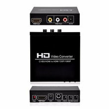Digital HD AV + HDMI TO HDMI Video Converter For STB DVD PS2 PS3 PSP(China)