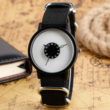 Mens Casual Quartz Watch Men Nylon Sports Watches Brief  Unique Turntable Modern Fashion Stylish Male Clock Hour Xmas Gift