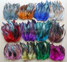 "Cheap! 50 pcs 5-8""/212.5-20cm 13 Colors Pheasant Chicken Rooster feathers for mask jewelry craft dress making bulk sale(China)"
