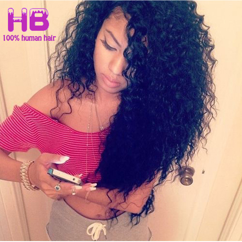 8A Brazilian Curly Virgin Hair Deep Wave 3 Bundle Weaves 100% Unprocessed Brazilian Deep Curly Human Hair Extensions Tight Curly<br><br>Aliexpress