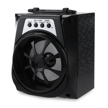 2017 Hot on sale Black Portable High Power Output 95dB 3.5mm Audio Interface FM Radio Wireless Bluetooth  AUX Function Speaker