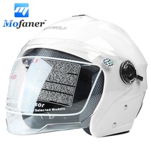 Mofaner Full Face Motorcycle Helmet Open Face Scooter Motorcross Visors Helmet 4 Color Racing Helmet Motocicleta Capacetes(China)