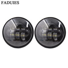 "FADUIES Black 4.5 inch Daymaker Projector LED Auxiliary Lamps 4-1/2"" 30W LED Auxiliary Fog Passing Light For Harley Motorcycle(China)"
