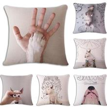 Kids Room Decoration English Bull Terrier Cushion Staffordshire Bullterrier Pillow Almofadas Para Sofa Pet Dog Accessories(China)