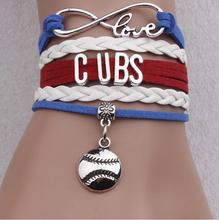 2016 MLB Champion Fashion Infinity Love Chicago Cubs Team Bracelet DIY Charm Bracelet & Bangles for Baseball Fans Jewelry