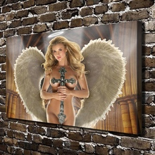 1131 Sexy Girl Naked Church Angel Figure Scenery.HD Canvas Print Home decoration Living Room bedroom Wall pictures Art painting