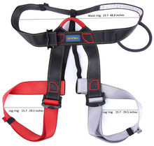 *Outdoor Climbing Rock Safety Belt Equipment Wiring Harness Descent In Rope Double Belt with Bag For The Transportation Security