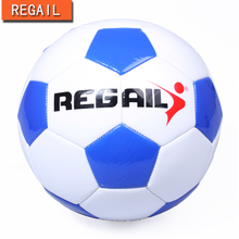 REGAIL  blue Thickened Soft PU Football Professional Children Soccer Ball Size 4