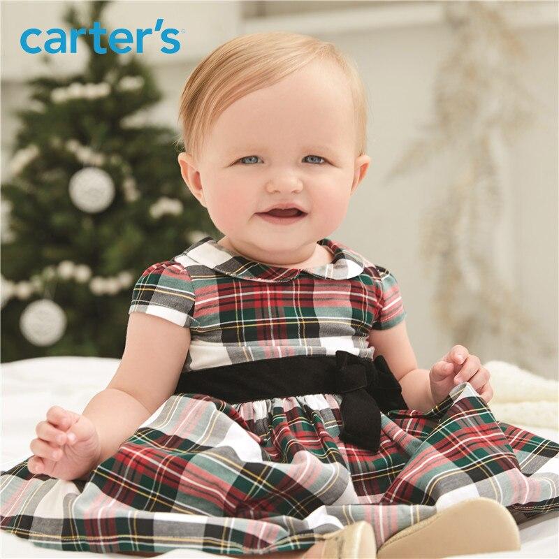1-pièce de Carter bébé enfants enfants vêtements Fille Printemps Été Plaid de Vacances Robe 120G169 13