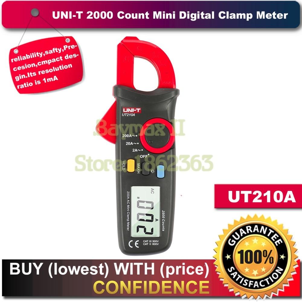 UNI-T UT210A 2000 Counts Mini Digital Clamp Meter MultiMeter Tester for AC Current 2A/20A/200A Measurement<br><br>Aliexpress