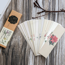 30pcs Chinese style bookmark Flower world paper bookmark originality school gift card
