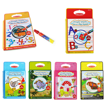 6 Colors Magic Water Drawing Book Coloring Book Doodle with Magic Pen Painting Board Juguetes For Children Education Drawing Toy(China)