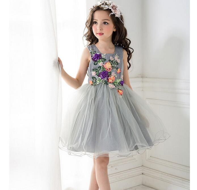 Meng Baby 2017 Flower Childrens Girl Costumes For kids Princess Party Wedding Dresses Girls Clothes Teen Girl Evening Dress<br>