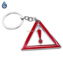 Warning logo metal keychain keyrings key rings chain for volvo v70 xc90 seat ibiza honda fit chevrolet lacetti dodge Car Styling(China)