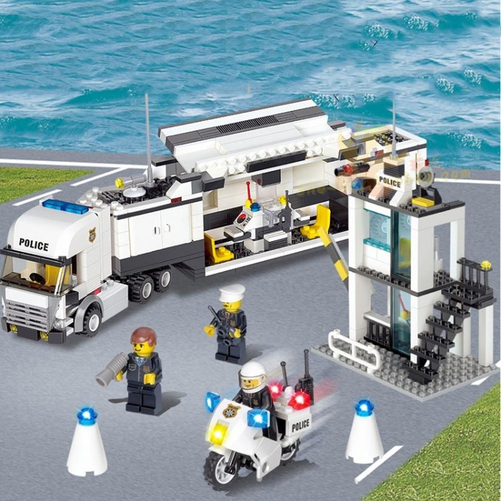 Kazi 6727 Police Station Building Blocks Bricks  Childrens educational toy building blocks Gifts for children<br><br>Aliexpress