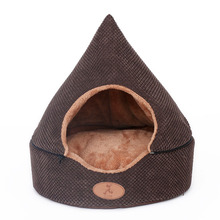 Two usage cat dog pet bed house Soft luxury small dog puppy sofa Bed kennel nest indoor winter warm fleece dog house cushion mat