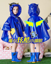 Cartoon Kids Brand Raincoat Hooded Travelling Rainwear For Kids Waterproof Rain Poncho Children Brand Cartoon Rain Cape