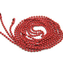 "Buy 10 Strand Red Ball Beads Chain Necklace 1.5mm Bead Connector 70cm (27"") Jewelry DIY Handwork Fashion for $2.88 in AliExpress store"