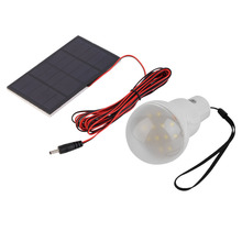 Camping Bulb Outdoor/Indoor Solar Powered led Lighting System Light Lamp 1 Bulb solar panel Low-power camp nightfair Brand New
