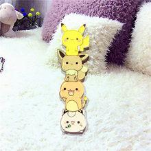 1PCS Icon Free Shipping Pikachu Pokemon Badge Harajuku Acrylic Pin Badges anime Cartoon Backpack Pins Icons for hat bags scarf(China)
