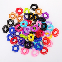 Women Headband 20 pcs Telephone Cord Elastic Ponytail Holders Hair Ring Scrunchies For Girl Rubber Band Tie