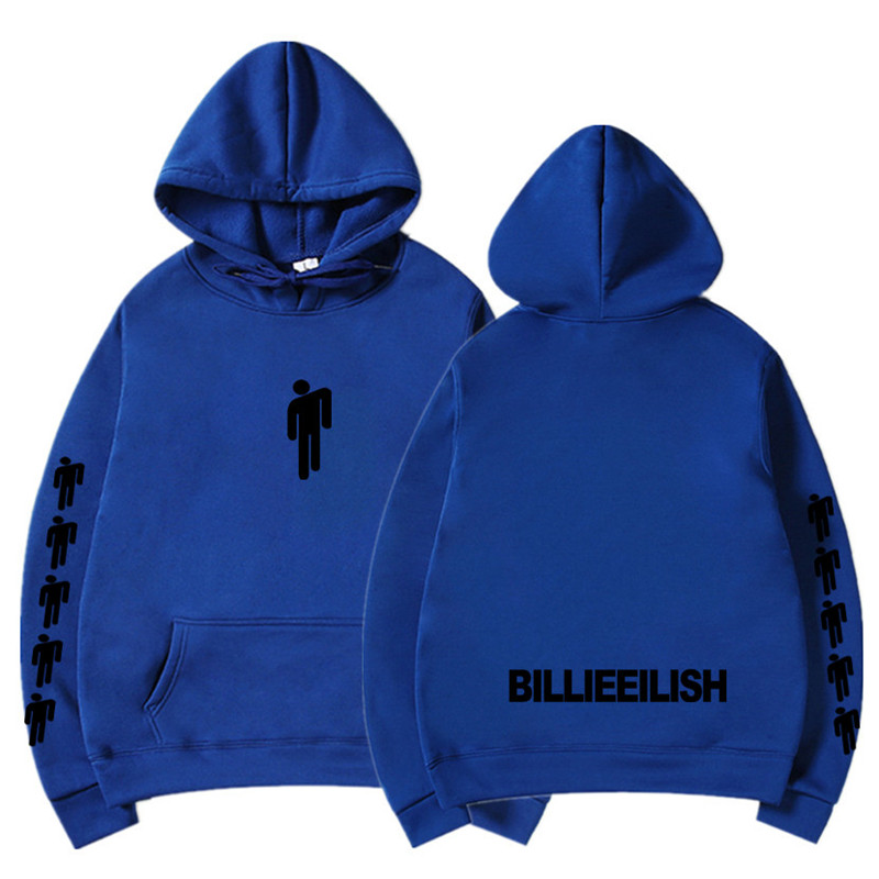 New Hot Billie Eilish Hoodie Men Black Cotton Hoodie Couple Billie Eilish Sweatshirt Simple Keep Warm Women/men Hoodie Clothes 19
