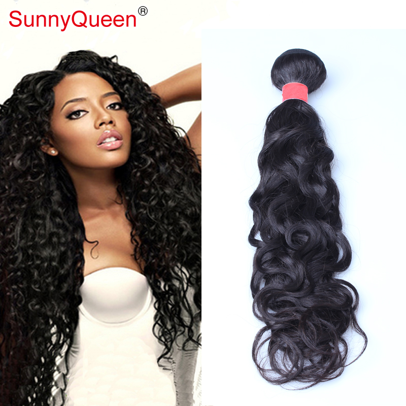6A 1PC Mongolian Water Wave Virgin Hair Extensions Sunny Queen Hair Products Mongolian Virgin Hair Water Wave Human Hair<br><br>Aliexpress