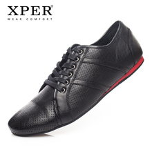 XPER Merk Lente Herfst Big Size 41 ~ 46 Mannen Casual Schoenen veterschoenen Ademend Fashion Business Mannen Schoenen # YWD86504BL(China)