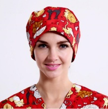 Pet Hospital Doctor Man Woman Surgical Cap Adjustable Long/Short Hair Gourd Nurse Scrub Hat  Absorb Sweat Terry Medical Cap,90