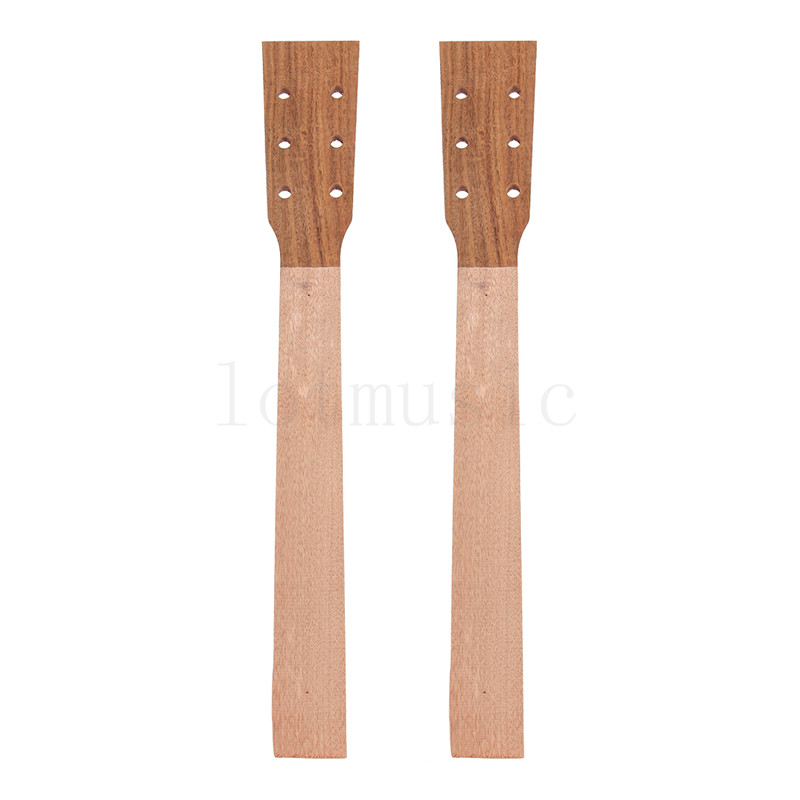 Acoustic Guitar Neck for Guitar Parts Replacement Luthier Repair Diy Unfinished Acacia Head Veneer Pack of 2<br>