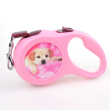 Top Quality New Dog Leads Retractable Leashes Big Size 5M Cute Dog Walking Printed Automatic Adjustable Leashes Free Shipping(China)