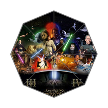 2015 New Custom High Quality  Star Wars Three Folding Sunny and Rainly Umbrella UMN13