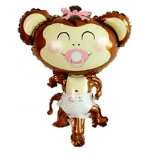 10pcs Cartoon Monkey Unicorn Animal Foil Balloons child Toys Birthday wedding Decoration Balony Globos Party Supplies Wholesale