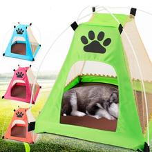Pet Dog Cage Portable Dog House Outdoor Puppy Cat Tent Folding Dog Tent with Mosquito Net Puppy Beds Kennel New Arrival #35