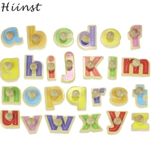 HIINST toys kids 2017 Factory Price Wooden Blocks Alphabet Kid Children Educational Intellectual Toy wholesale*R Drop(China)