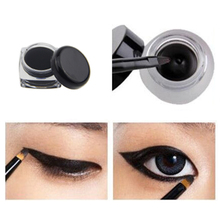 New Hot Cosmetic Waterproof Eye Liner Pencil Make Up Black Liquid Eyeliner Shadow Gel Makeup With Brush