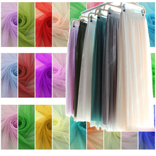 10meters/lot Soft tulle fabric netting fabric solid color 160cm wide polyester mesh ground tulle roll for wedding dress