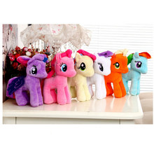 Cheap 25cm Six Colors My Cute Lovely Little Horse Plush Toys Poni Doll Animal Stuffer PP Cotton Toys For Children Newborn Baby