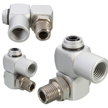 "1/4"" Universal 360 Swivel Air Hose Connectors Fittings Air Hose Adapter Flow Aluminum Universal Joint Tools"