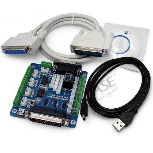 5 Осей ЧПУ Интерфейсная Плата для Шагового Контроллера + Кабели + Программное Обеспечение(China)