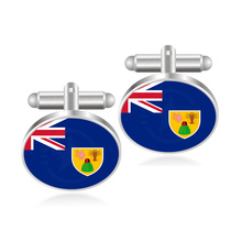 Turkey Turkmenistan Turks and Caicos Islands Tuvalu Uganda Ukraine United Arab Emirates United Kingdom Venezuela Flag Cufflinks(China)