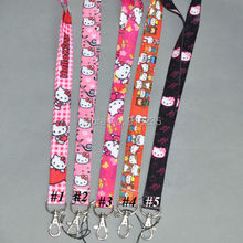 Free Shipping New Hello Kitty Cell Phone Charm Camera Keys ID Neck Lanyard Strap